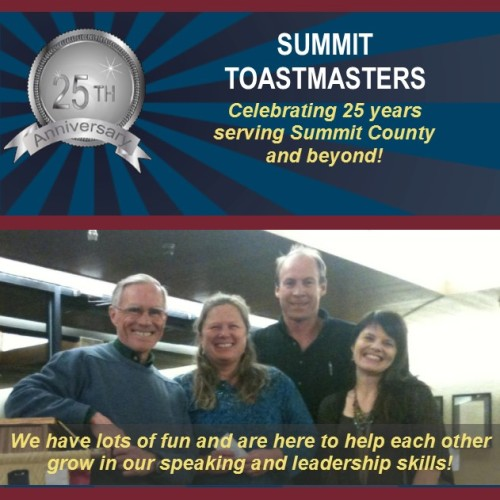 Summit Toastmasters - having fun