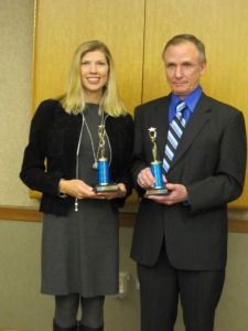 F2-F5 Area Winners Amy Nakos and Jeff Priestly