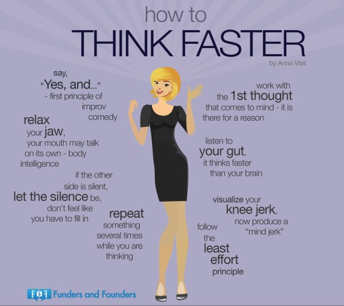How to think faster - Anna Vital